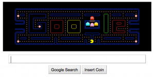 Old lady, Google, Pacman