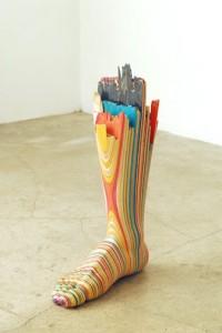 Skateboard sculpture - Foot