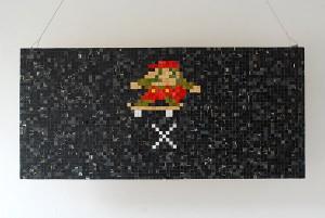 Skateboard sculpture - Mario